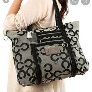 COACH Poppy Op Art Glam Tote Bag